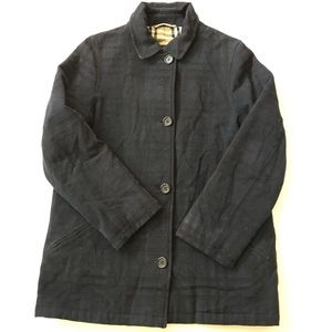 BURBERRY Textured Button Down Jacket